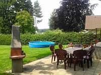 Terasa bazén - chata k pronájmu Seč - Ústupky