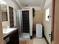 Nově zrekonstruovaná koupelna - chalupa k pronajmutí Lhota-Vlasenice