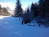 zimní pohled na řeku - Březiny