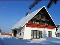 Dům z jižní strany - ubytování v horní části domu