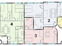 Rozložení jednotlivých apartmánů