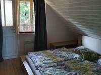 Chalupa Habří Ložnice s manželskou postelí - pronájem Moravecké Pavlovice - Habří