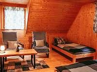 Modrá ložnice - pronájem chaty Hluboká u Trhové Kamenice