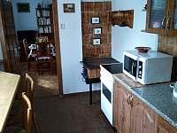 kuchyň - chalupa ubytování Sázava