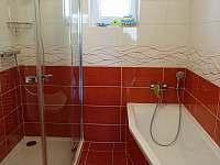 koupelna s vanou a sprchovým koutem v přízemí - Herálec