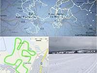 Zima 2021 běžky - Herálec