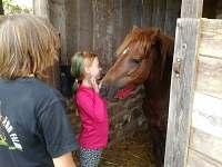 Děti se u nás mohou povozit na poníkovi - pronájem apartmánu Rybníček u Pelhřimova