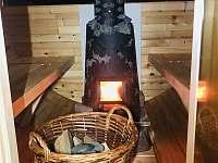 Krb 19kw v sauně - zima Vám určitě nebude - chalupa k pronájmu Svratouch