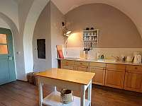 kuchyň - chalupa ubytování Police u Jemnice