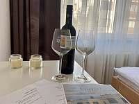 Jako pozornost od nás obdržíte při příjezdu láhev vína - pronájem rekreačního domu Nové Město na Moravě