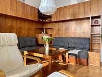 Obývací pokoj - rekreační dům k pronajmutí Nové Město na Moravě