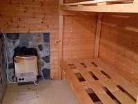 Sauna se saunovými kamny 9 kWh.