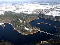 Stropěšínský most - zima - chata k pronájmu Kramolín