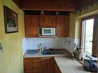 kuchyň - chata k pronajmutí Červená Řečice