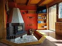 obyvací místnost s krbem - Červená Řečice