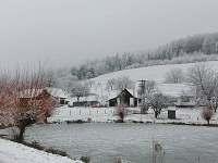 Rybník Kasany v zimě