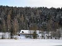 Mlýn Lidmaň v zimě -