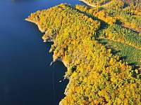 Dalešická přehrada-podzim - pronájem chaty Kramolín