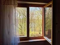 Výhled z okna - pronájem chaty Kramolín
