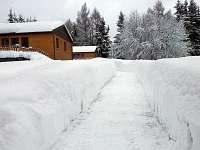 Takto to u nás vypadá v zimě - pronájem chaty Tři Studně