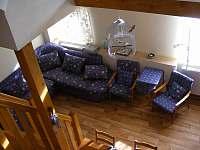 Společenská místnost - chalupa ubytování Rozsochatec