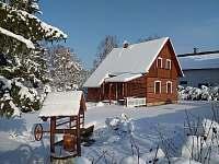 celkový zimní pohled - pronájem chaty Zdislavice