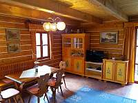 obývací pokoj - pronájem chaty Zdislavice