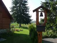 pohled do zahrady - chata k pronajmutí Zdislavice