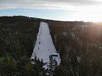 lyžařský areál Čeřínek cca 1000 m od roubenky - Cejle - Hutě
