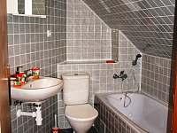 koupelna pokoje č.4, stejná koupelna i na pokojim č.5 - chalupa k pronajmutí Veselý Kopec