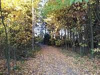 Okolní  romantická krajina na podzim.