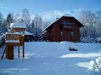 Zimní atmosféra - chata ubytování Čejov