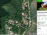 chata Kramolín vyznačeno v mapě - Dalešická Přehrada