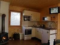 kuchyňská linka - chata ubytování Dalešická Přehrada