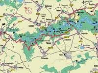 mapa přehrady - Dalešická Přehrada