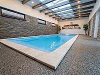 bazén 8x3x1,6m - chalupa k pronajmutí Police