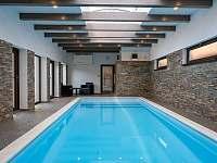 bazén 8x3x1,6m - pronájem chalupy Police