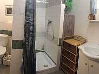 uzamykatelná koupelna se záchodem - pronájem chaty Velké Dářko