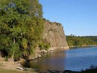 Dalešická přehrada - Wilsonova skála