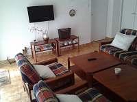 Obývací pokoj - chalupa k pronájmu Lidmaň