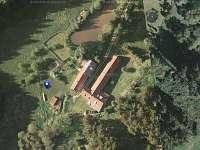 Letecká mapa - chalupa ubytování Mezilesí