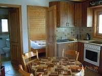 pohled do ložnice v přízemí - chata k pronajmutí Řemenov