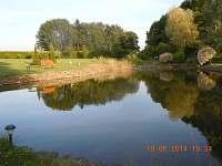 rybník večer - pronájem chaty Řemenov
