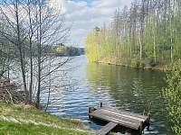 Blízké molo a koupání v přehradě - Želiv - Brtná
