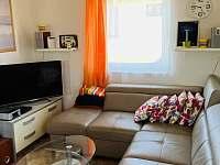 Polohovatelná pohovka se SMART TV a DVD přehrávačem - pronájem chaty Želiv - Brtná