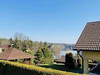 Výhled z terasy - chata k pronájmu Želiv - Brtná