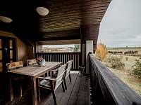 Apart. 1 - terasa - chalupa ubytování Kamenice nad Lipou - Březí