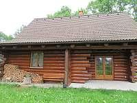 terasa - srub ubytování Polesí