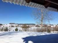zimní výhled ze srubu - Polesí