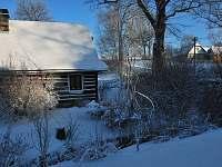 Zima na venkově - chalupa ubytování Česká Rybná